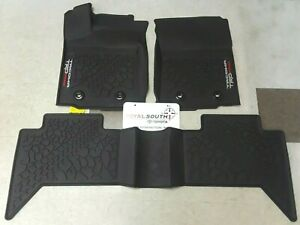 Toyota Tacoma 2020 Trd Pro Double Cab At All Weather Floor Liners Genuine Oem