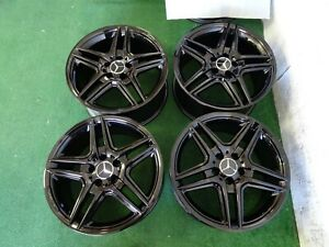 2011 2012 2013 Mercedes Amg E350 E550 Oem Factory 18 Wheels Rims Gloss Black
