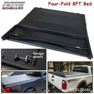 For 1999 2017 Ford F250 F350 Superduty 8ft Long Bed Four Fold Tonneau Cover