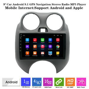 9 Android 9 1 Hd Mp5 Player Car Gps Navi Stereo Radio Usb Fit For Nissan March