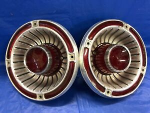 Vintage 1963 Ford Fairlane Tail Light Assemblies Good Condition