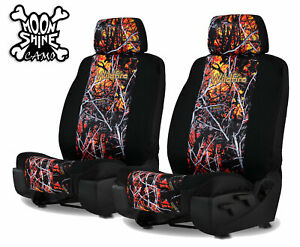 Wildfire Camo Neoprene Universal Fit Seat Covers For 2 Low Back Bucket Seats