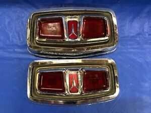 Vintage 1964 Plymouth Sport Fury Tail Light Assemblies