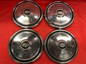 Vintage Set Of 4 1972 77 Ford mercury 10 1 2 Dog Dish Hubcaps