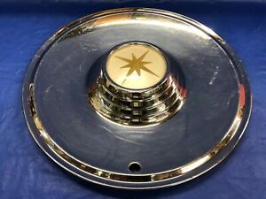Vintage 1957 Lincoln 15 Hubcap Premier Very Good Condition