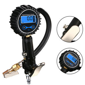 200 Psi Digital Tire Inflator With Pressure Gauge Air Chuck For Truck Car Bike