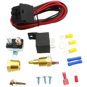 Electric Radiator Engine Fan Thermostat Temperature Switch Relay Kit 3 8 351 Hot