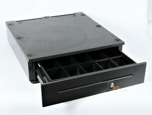 Ncr Realpos Full Size Cash Drawer 2181 1110 9090 Charcoal Black With Key