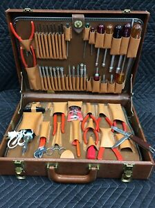 Nice Vintage Xcelite Tc 150 Tool Case W Tools And Many Extras Ships Free