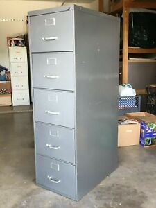 File Cabinet Vertical 5 Drawer Legal Size Heavy Duty Steelcase