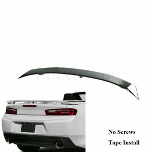 Painted Gloss Black Rear Trunk Lip Spoiler Wing Fit For Chevrolet Camaro 2016 19