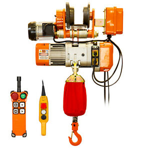 Prowinch 1 2 Ton Electric Chain Hoist With Electric Trolley Single Phase 1000 Lb