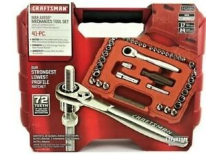 Craftsman 41 Piece 1 4 3 8 Drive Max Axess Socket Wrench Set 41484