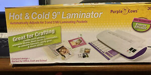 Purple Cows Hot Cold 9 Laminator 3017 New