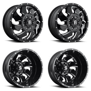 4x D574 G Blk Mil F R Dually Wheels 20 Chr Spline Lugs For Chevy Silverado 3500