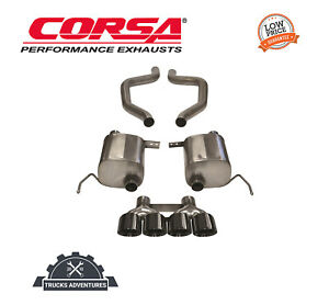 Corsa Performance 14766blk Xtreme Axle back Exhaust System Fits 15 19 Corvette