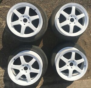 Genuine Jdm Rays Volk Racing Te37 17 Wheels Rims Work Advan Oz Weds S2000