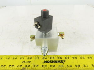 Sun Hydraulics Single Solenoid Hydraulic Valve Regulated Manifold Assembly 48vdc