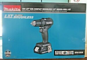 New Makita 18v Lxt Sub compact Brushless 1 2 Driver drill Kit Xfd11r1b 7414