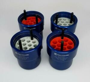 Fisher Scientific 75003451 Accuspin 1 Centrifuge Blue Round Buckets Lot Of 4