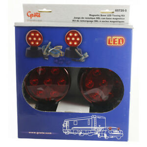 Grote Lighting 65720 5 Small Trailer Lighting Red Led Magnetic Towing Kit