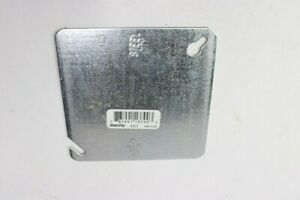 Qty 2 Packs Of 50 steel City Flat Metal Hott Deals Blank Square Electrical Box