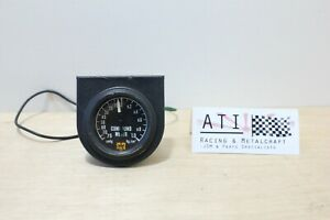 Rare Jdm Vintage Hks Racing Turbo Boost Gauge Black 52mm