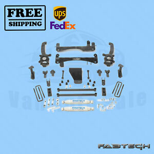 6 Basic Syst W Rear Shocks Fabtech For Nissan Frontier 2wd 4wd 06 15