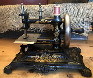 Antique Cast Iron Muller No 12 Sewing Machine Germany Stunner