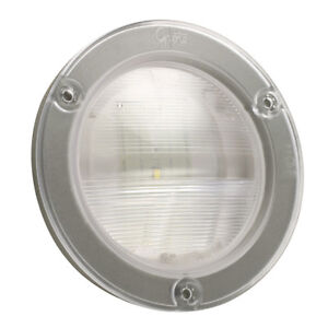 Grote 62811 Back Up Lamp 4 In Clear Led With Integral Flange Hard Wired