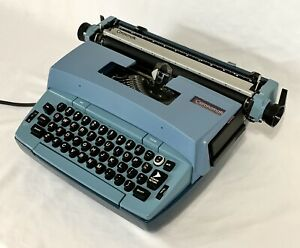 Vintage Smith Corona Coronamatic Blue Electronic Typewriter