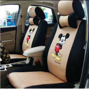 New Hot Sell Cute 12 Pcs Mickey Universal Car Seat Covers