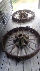 Farmall International H M Tractor Steel Rear Wheels