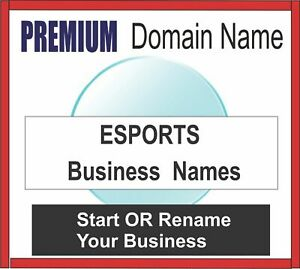 Premium Business Domain Names Esports choose Your Name