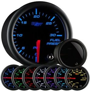 Glowshift Tinted 7 Color Series 30 Psi Fuel Pressure Gauge Glow Shift Gs t711_30