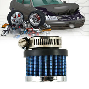 New 25mm Mini Air Intake Crankcase Breather Filter Valve Cover Catch Tank Blue