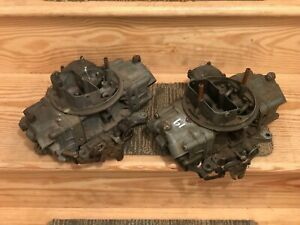 Holley Carburetors 3310 Pair Tunnel Ram Blower 780 Cfm Race Carbs Dual Quad Used