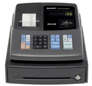 New Sharp Electronic Cash Register Xe A106 With Key And Led Display