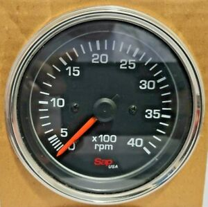 Tachometer Electric 0 4000 Rpm 12 24 Volt 80mm For Trucks Boats Generators New