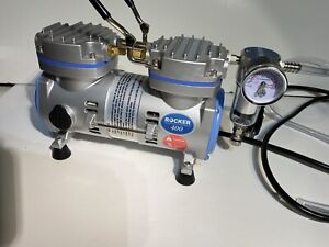 Rocker 400 1 6hp Oil Less Piston Vacuum Pump air Compressor