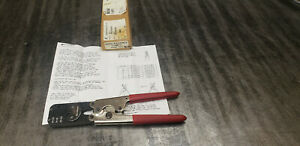 Burndy Y14mtv Hand Ratcheting Crimp Tool 14 26 Awg Shelf Bb2 Bin 72