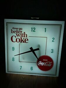 vintage coke cola clock Hanover lighted new bulb and ballast.