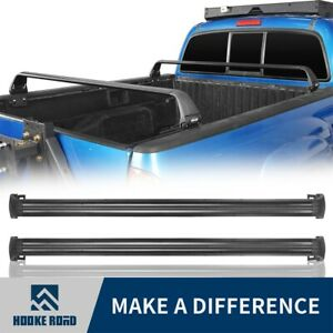 Hooke Road 2pcs Crossbars Bed Rack Fit Toyota Tacoma 2005 2021 2nd 3rd Gen