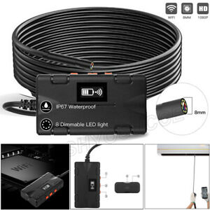 Led 8mm Endoscope Inspection Camera Hd Wifi Wireless Waterproof For Ios Android