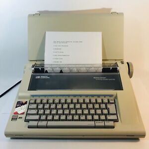 Smith Corona Memory Correct Electronic Portable Daisywheel Typewriter W Cover
