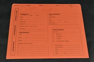 Delivery Request Packet Fl 9965 Orange Po 193320 pack Of 100