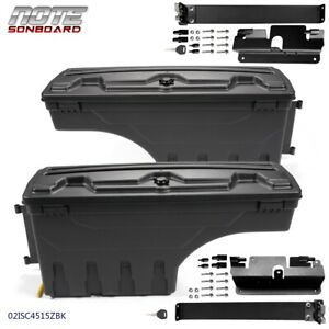 Rh lh Truck Bed Storage Box Toolbox Rear For 07 2018 Chevy Silverado Gmc Sierra