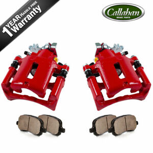 Rear Red Coated Brake Caliper For 2010 2011 2012 2013 2014 Ford Mustang