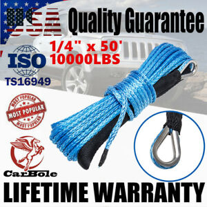 1 4 X 50 Synthetic Winch Rope Line Cable 10000lbs Recovery Atv Utv Suv Pickup