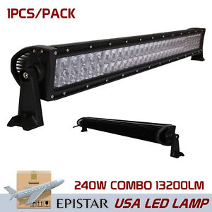 42inch 240w Led Light Bar Spot Flood Combo Driving Offroad 4d Opticals 4wd Ute